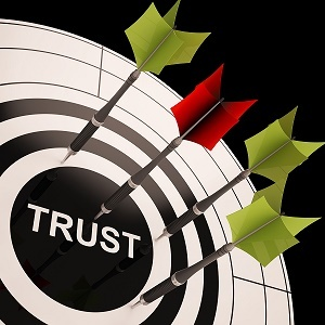 Trust On Dartboard Shows Reliability And Reliance