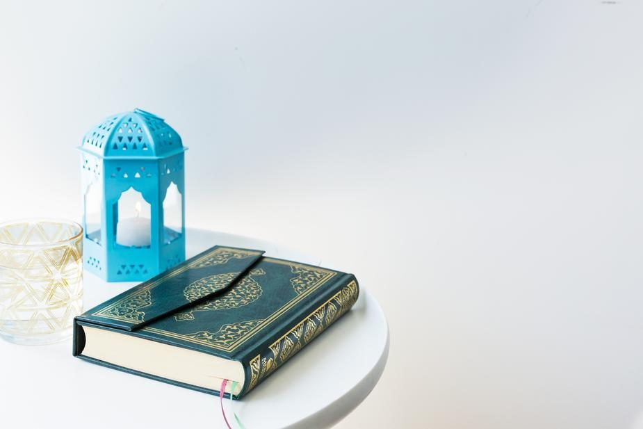 Quran on table