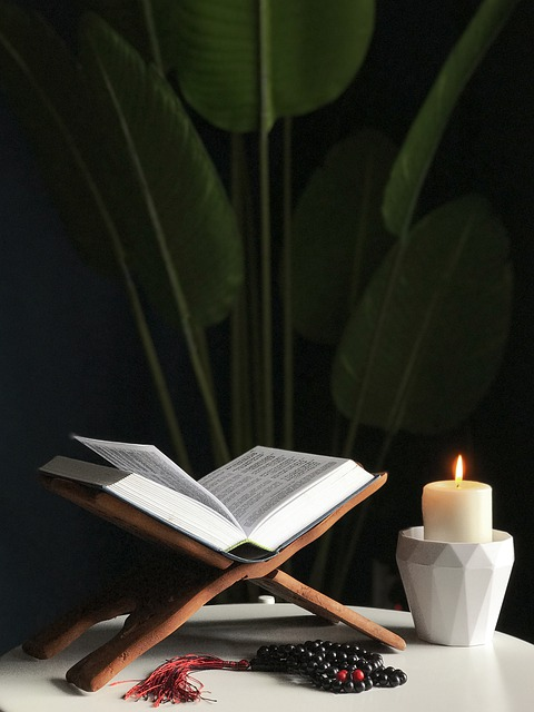 Quran with candle